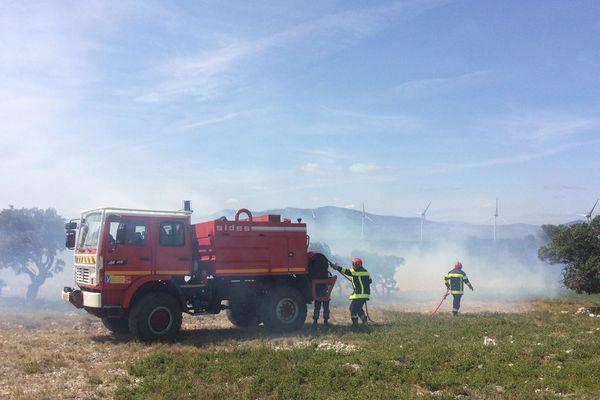 Les pompiers du Vaucluse prêtent main forte aux Audois sur le plateau de La Palme.