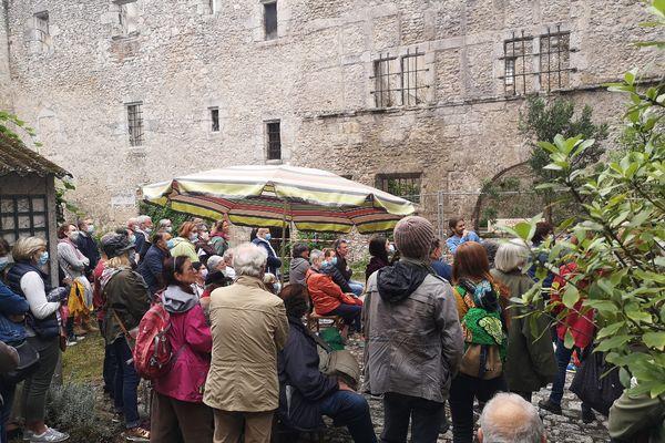 Des visiteurs devant la Tupinière lors des JEP ces 18 et 19 septembre 2021.