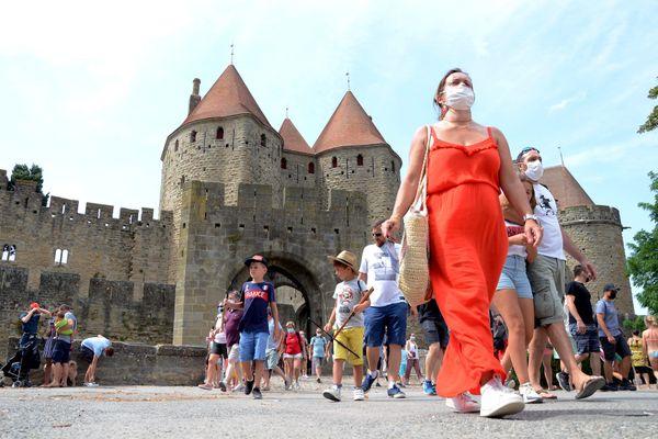 Carcassonne - Depuis le 8 août, le port du masque était obligatoire dans la Cité médiévale - 21.08.20