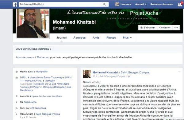 La page facebook de lMohamed Khattabi