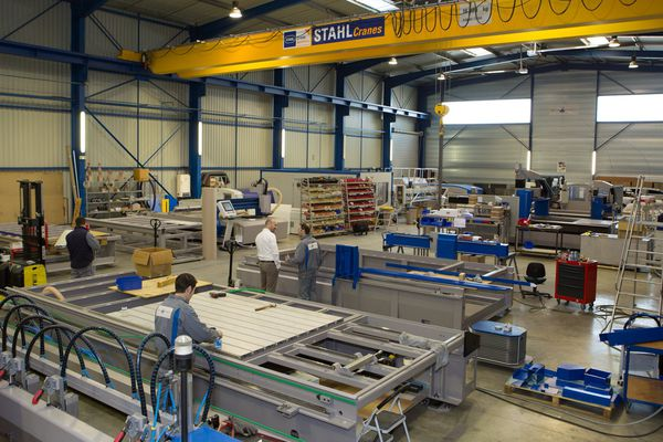 L'un des ateliers de fabrication