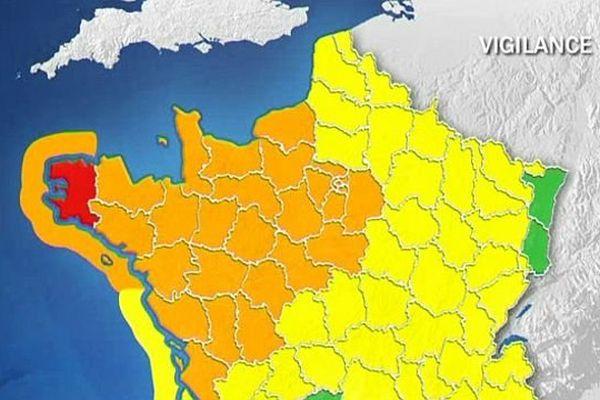 28 départements sont en vigilance orange, un en rouge