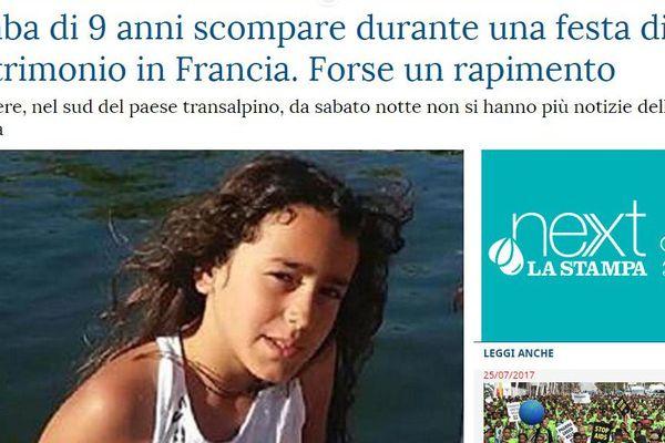 Le journal italien La Stampa