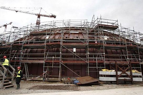 Le chantier de l'EPR à Flamanville, dans la Manche