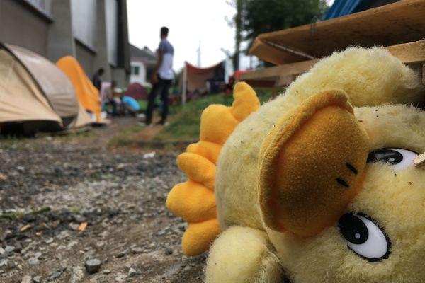 Les migrants du gymnase Jeanne Bernard à Nantes, juillet 2019