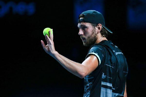 (Archive - Lucas Pouille au tournoi de Metz en septembre 2019).