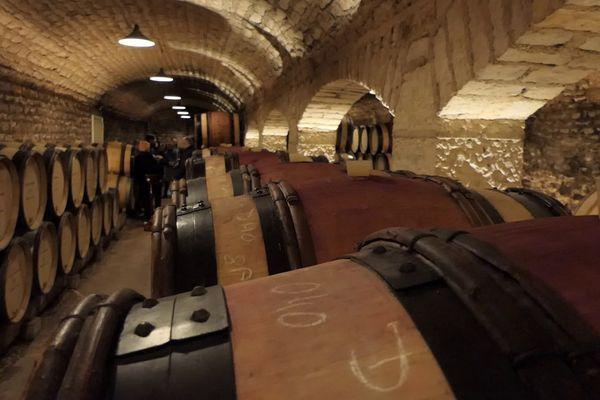 Les pièces de vin en élevage à la maison Albert Bichot