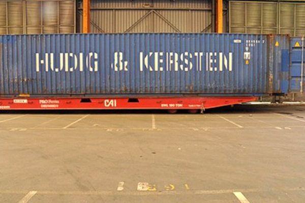 Les clandestins afghans ont été retrouvés dans ce conteneur expédié par bateau depuis la Belgique.
