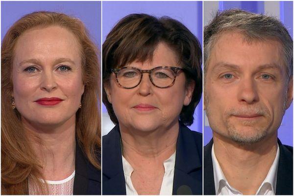 Violette Spillebout (LREM), Martine Aubry (PS) et Stéphane Baly (EELV).