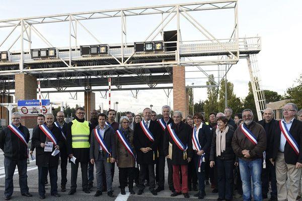 En 2016, les maires du nord-est de Toulouse manifestaient déjà pour la suppression du péage de l'Union.