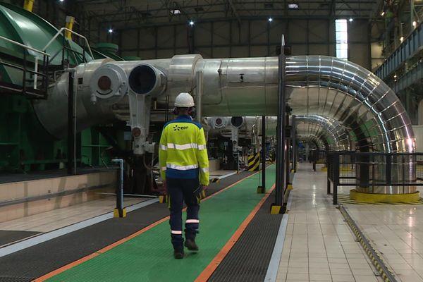 Le groupe turbo-alternateur du réacteur numéro 2 de la centrale nucléaire de Flamanville
