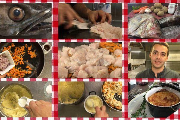 Les étapes du hachis parmentier de merlu