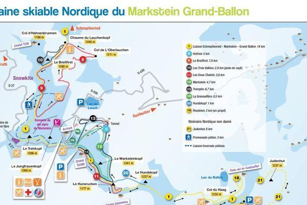 Le domaine nordique (ski de fond) du Markstein-Grand Ballon