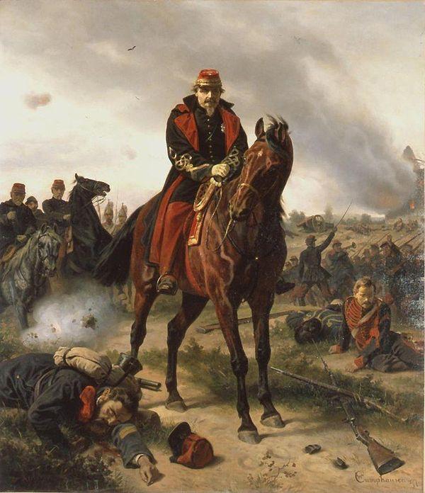 Napoléon III lors de la défaite de Sedan (tableau de Camphausen)