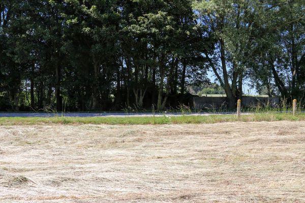 L'emplacement des hangars où étaient entretenus et réparés les chasseurs allemands.