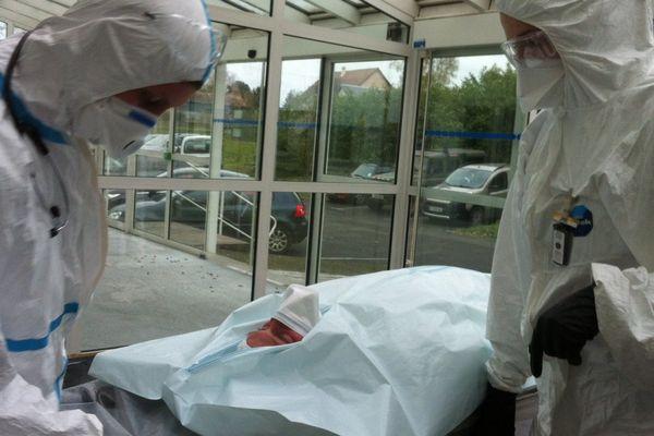 Exercice de sécurité nucléaire : prise en charge des faux blessés.