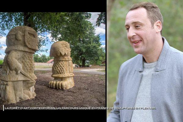 Irwin Marchal, commissaire de la forêt d'art contemporain (Les Landes)