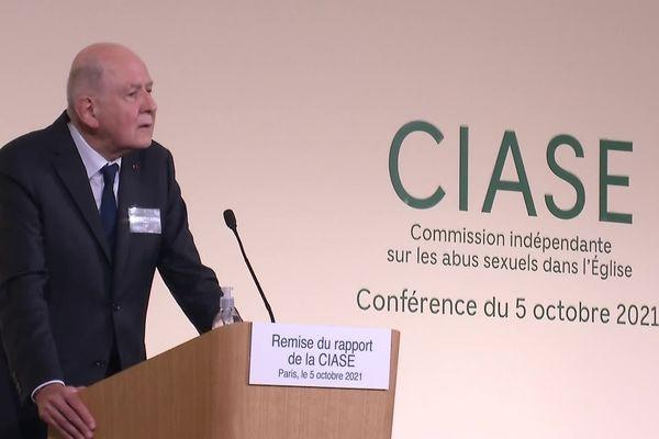 Jean-Marc Sauvé, président de la commission d'enquête indépendante sur les abus sexuels sur mineurs commis au sein de l'Église.