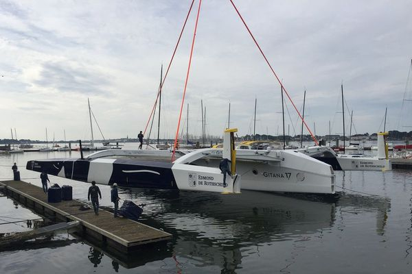 Le Gitana a été mis à l'eau à Lorient