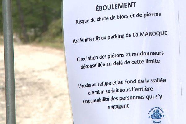 Un arrêté interdit l'accès au parking