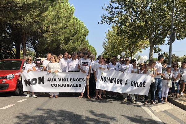 Une marche blanche en hommage à Chloé, tuée par balles le 4 août par son ex-compagnon.