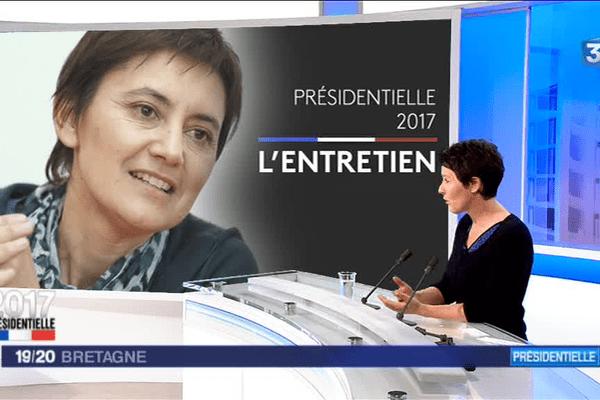 Valérie Hamon, porte-parole de Lutte ouvrière en Bretagne, a présenté sur le plateau de France 3 Bretagne le programme de Nathalie Arthaud, candidate à l'élection présidentielle.
