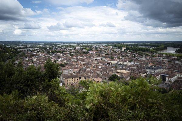 La ville de Moissac dans le Tarn-et-Garonne.