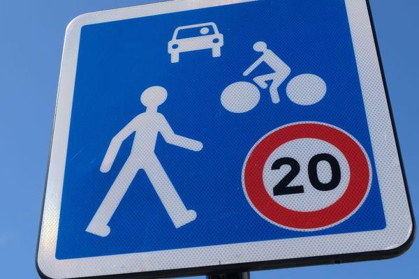 Photo d'illustration/ Zone partagée limitée à 20 Km/h