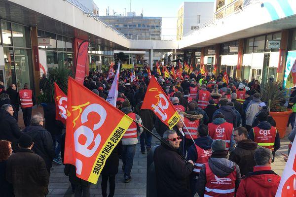 Manifestation à Saint-Nazaire, le 6 février 2020