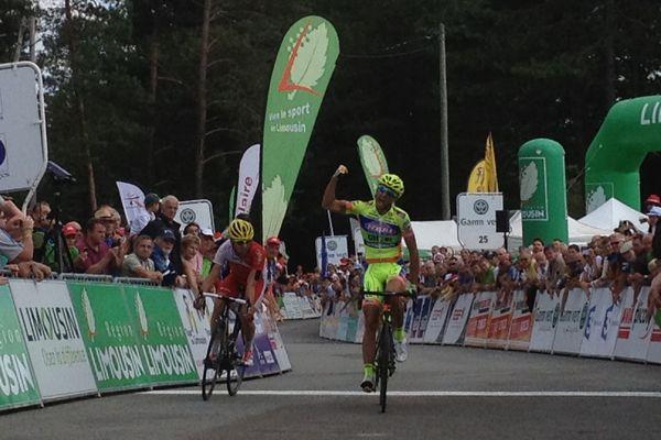 Mauro Finetto vainqueur de la 3ème étape du TDL 2014 et prend le maillot jaune