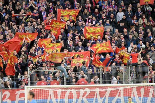 Photo d'illustration-  Tribune des supporters lors d'un Caen-Rennes, le 21 février 2016.