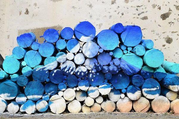 """""""Mont Fuji"""" par Mako Moya pour l'exposition """"Influences nippones"""" du moulin du Got"""