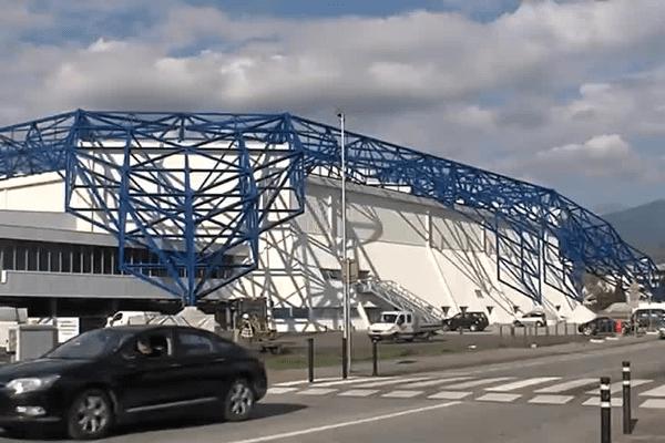 La Halle Olympique d'Albertville qui devait accueillir la Coupe Davis