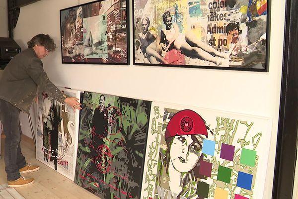 Jean-Luc Renaud est artiste peintre. Il propose de louer ses œuvres. Une façon de rendre l'art plus accessible à tous.