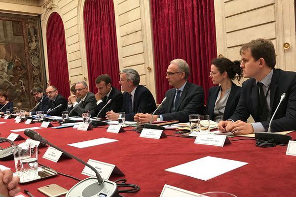 Les élus Creusois sont reçus en ce moment même par Emmanuel Macron et ses conseillers