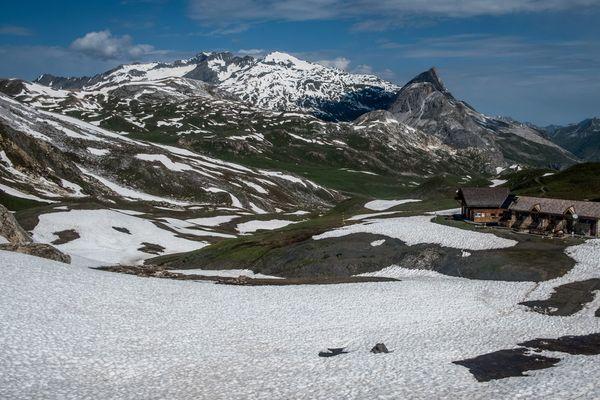 - Photo d'illustration -  Un refuge dans le Parc naturel de la Vanoise (Savoie), sur le chemin de grande randonnee du GR5.