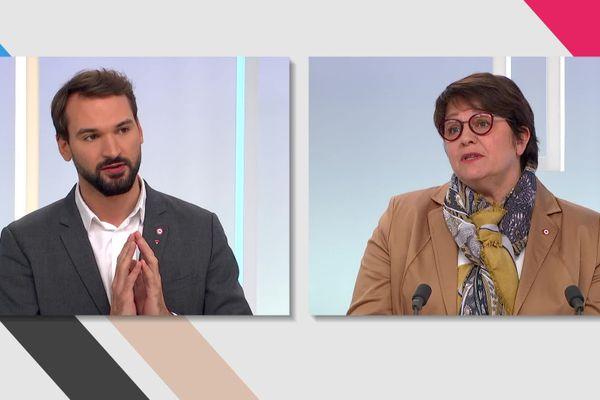 Ugo Bernalicis et Carole Bureau-Bonnard débattent de la politique de sécurité intérieure.