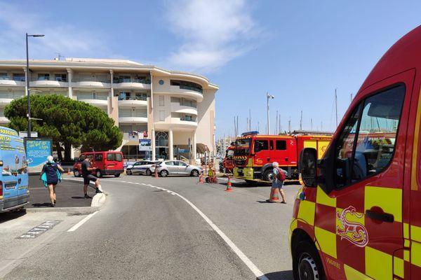 Plus de 40 sapeurs-pompiers sont mobilisés sur cette intervention.