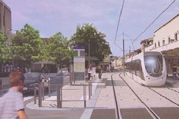 Première mise en circulation du tramway aubagnais en 2014.