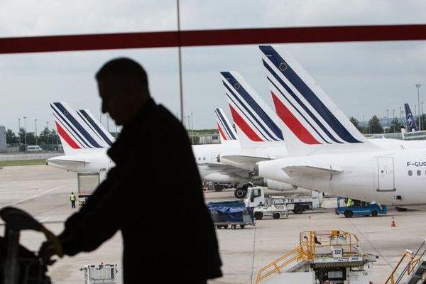 L'aéroport d'Orly (Val-de-Marne) lors de la grève des pilotes d'Air France, le 11 juin 2016.