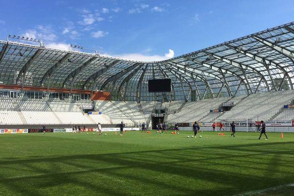 Le GF38 à l'entraînement au stade des Alpes, lundi 21 mai 2018.