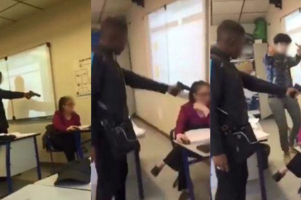 Une vidéo montrant un lycéen braquant une enseignante, à Créteil, tourne en boucle sur les réseaux sociaux.
