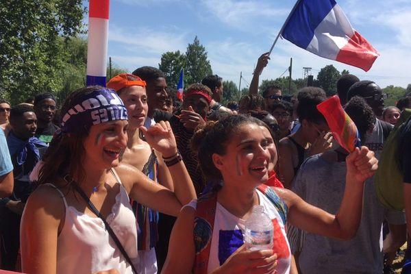 Les supporters Français ont le sourire