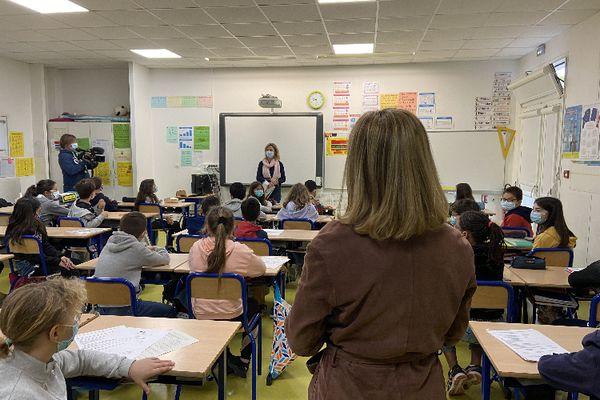 La rentré des classes ce 26 avril à l'école La Marianne de Bruges, en Gironde