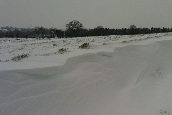 La neige en Mayenne le mardi 12  mars 2013