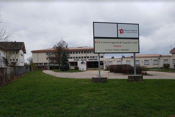 Deux élèves avaient été exclus du lycée Xavier Marmier, à Pontarlier, fin 2019.