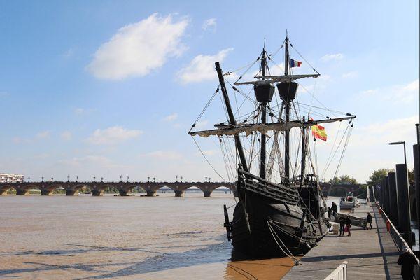 En octobre 2015, dans le port de Bordeaux