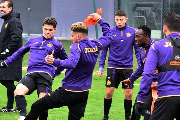 Les Toulousains lors de leur premier entraînement de l'année, le 2 janvier.