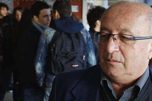 Roland Sérazin au collège France Bloch de Poitiers en 2013