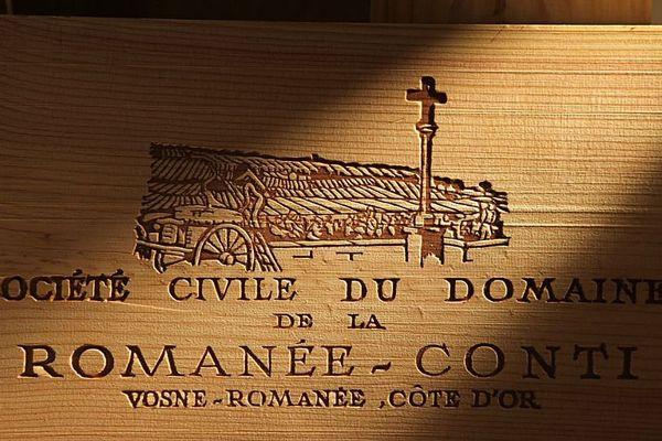 Une estampe de caisse de la Romanée-Conti